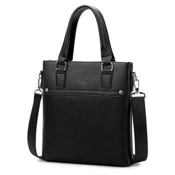 Business Casual Men Shoulder Messenger Bag - BLACK