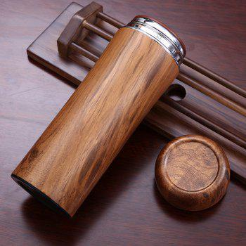 Original Wood Color Stainless Steel Shell Boccaro Tank Vacuum Cup - WOOD