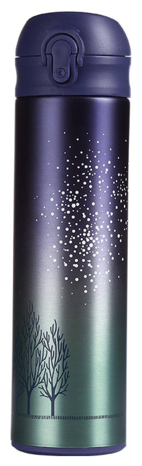 Starry Sky Pattern Double Stainless Steel Vacuum Cup 500ML - BLUE GREEN