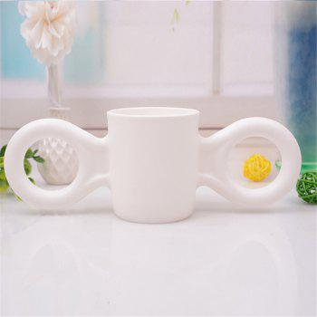 Baby Anti-Drop Bottle Water Candy Color Children Milk Cup for Decoration - WHITE