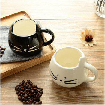 Cute Cat Animal Milk Mug Ceramic Creative Coffee Porcelain Tea Cup Nice Gifts - BLACK