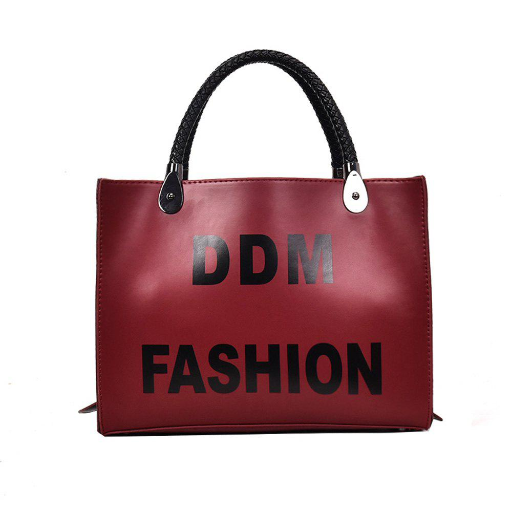 New Printing Ribbon Bags Fashion Shoulder Messenger Bag Color Bag - WINE RED