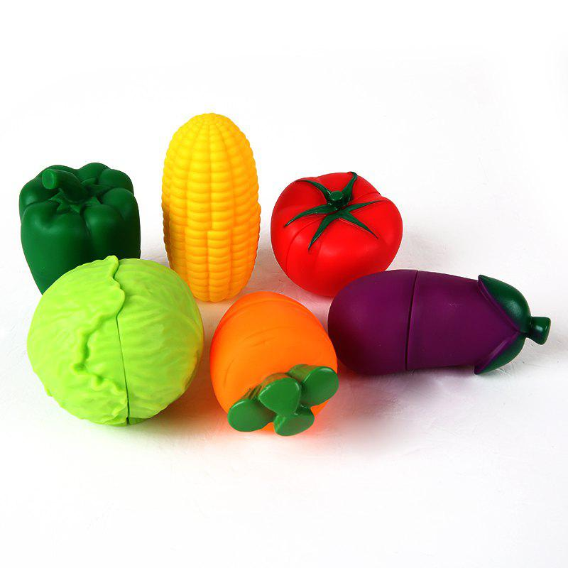Children Lovely Vegetables Shape Soft Blocks 6PCS - COLORMIX