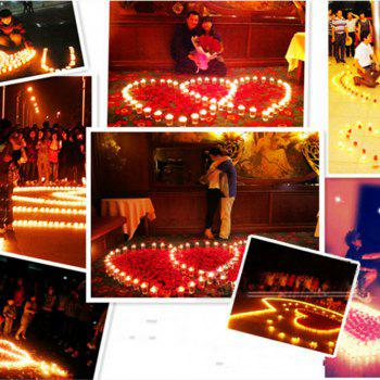50pcs Light For Wedding Decoration Romantic Party Holiday Tea Candles - PINK