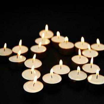 50pcs Light For Wedding Decoration Romantic Party Holiday Tea Candles - WHITE