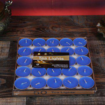 50pcs Light For Wedding Decoration Romantic Party Holiday Tea Candles - BLUE