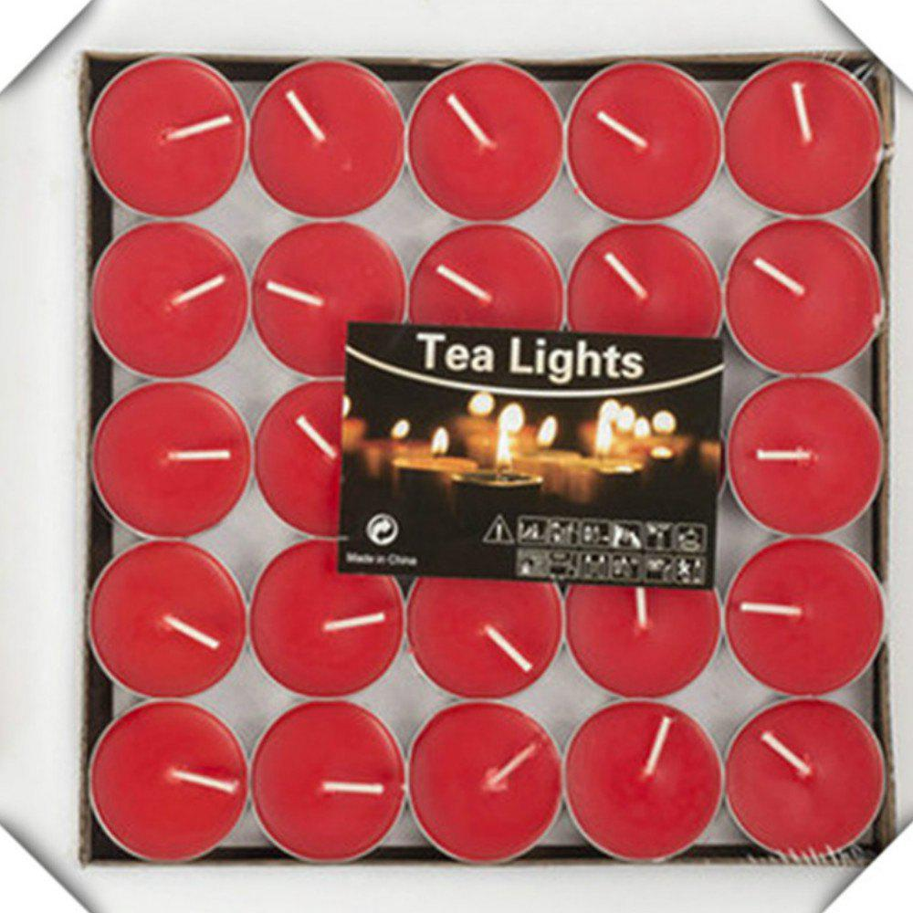 50pcs Light For Wedding Decoration Romantic Party Holiday Tea Candles - RED