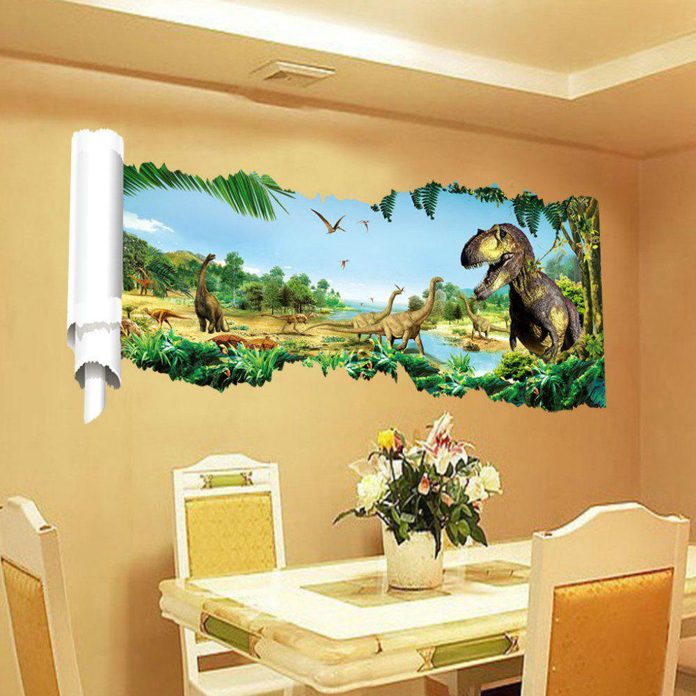2018 Dinosaurs Wall Stickers for Kids Rooms Decoration 3D Window ...