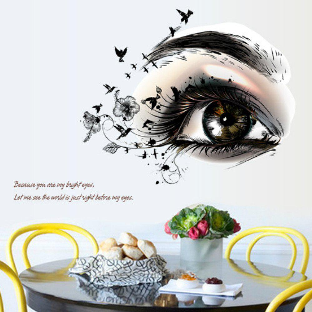 Big Eye Art Wall Sticker Removable Home Decor home decoration removable quote wall art sticker