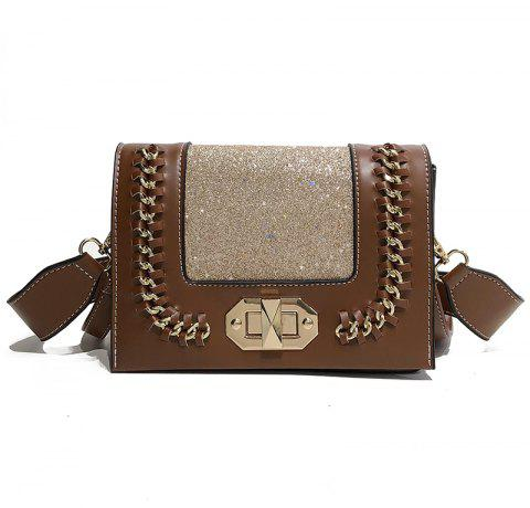 Wild Shoulder Messenger Chain Small Square Package - BROWN