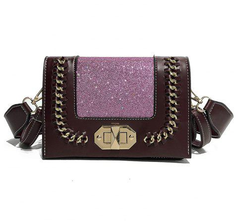 Wild Shoulder Messenger Chain Small Square Package - BURGUNDY