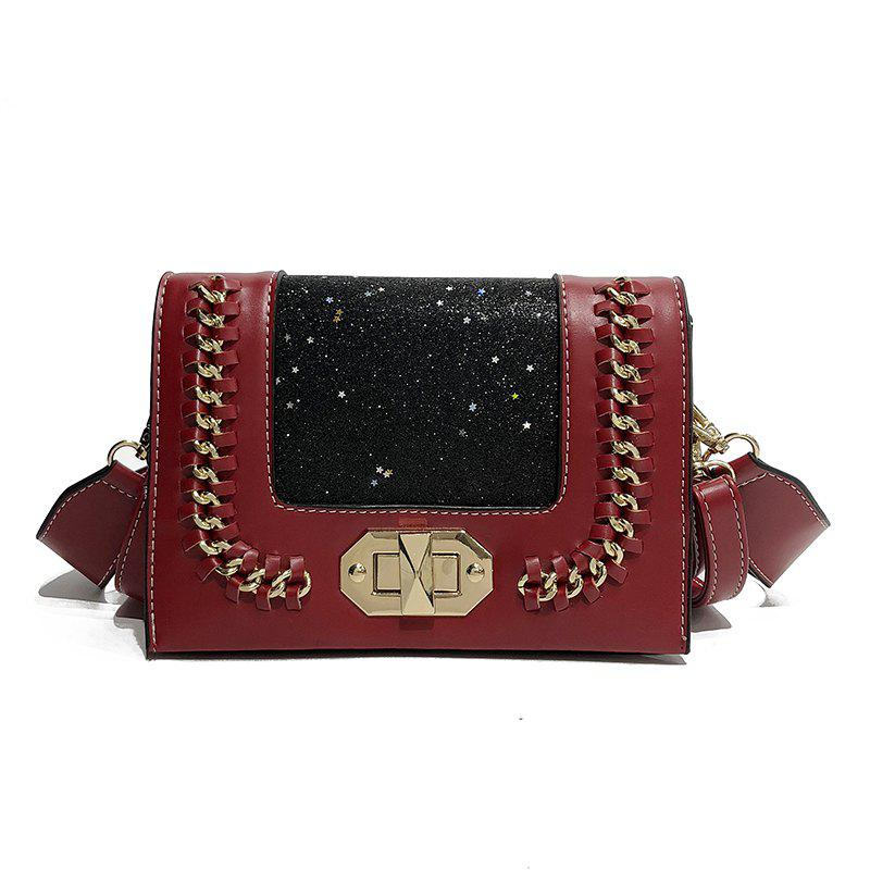 Wild Shoulder Messenger Chain Small Square Package - RED