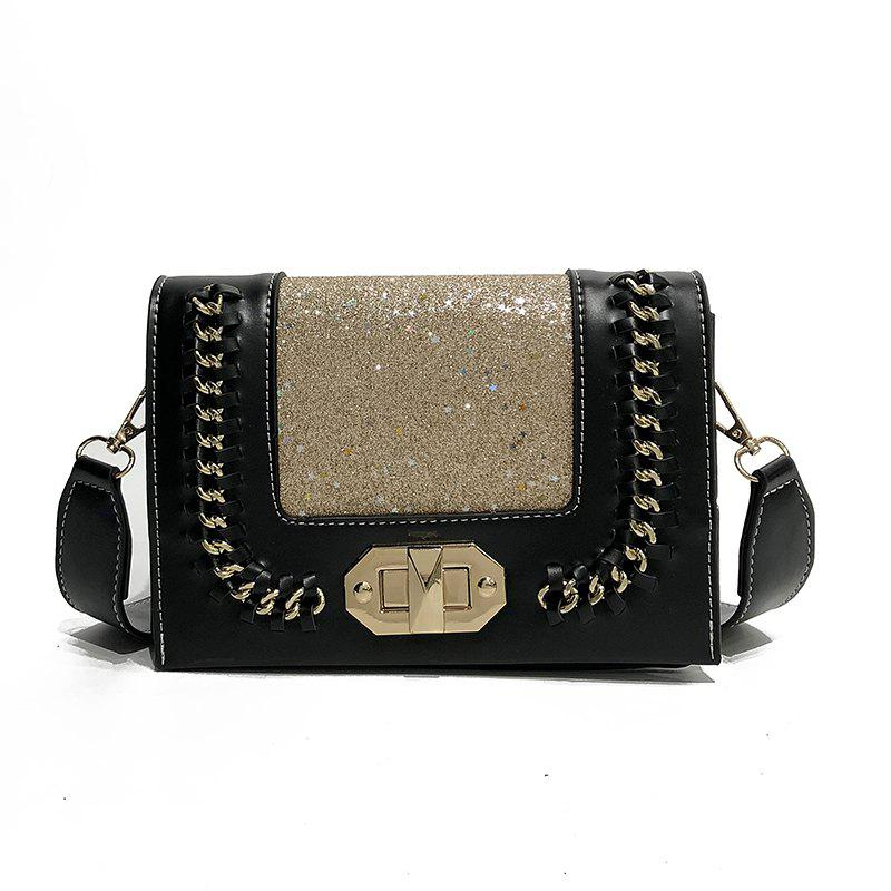Wild Shoulder Messenger Chain Small Square Package - BLACK