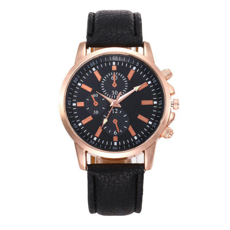 V5 Fashion Men Business Quartz Watches - BLACK