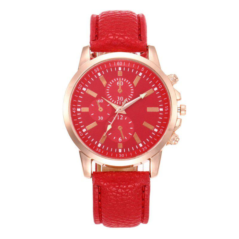 V5 Fashion Men Business Quartz Watches - RED