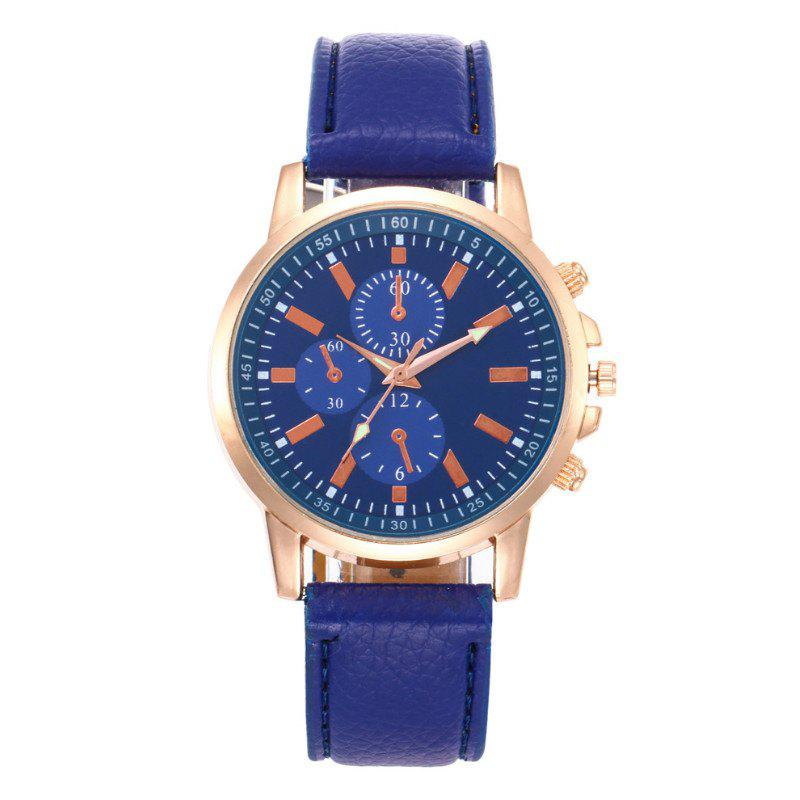 V5 Fashion Men Business Quartz Watches - BLUE