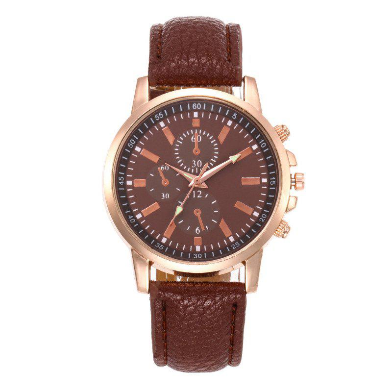 V5 Fashion Men Business Quartz Watches - BROWNIE