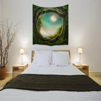 Fantasy Forest 3D Digital Printing Home Wall Hanging Nature Art Fabric Tapestry for Bedroom Living Room Decorations - COLORMIX W153CMXL102CM