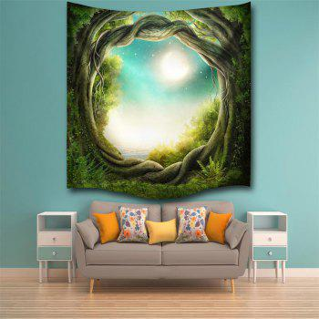 Fantasy Forest 3D Digital Printing Home Wall Hanging Nature Art Fabric Tapestry for Bedroom Living Room Decorations - COLORMIX W229CMXL153CM