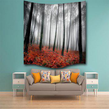 Red Woods 3D Digital Printing Home Wall Hanging Nature Art Fabric Tapestry for Bedroom Living Room Decorations - COLORMIX W200CMXL180CM