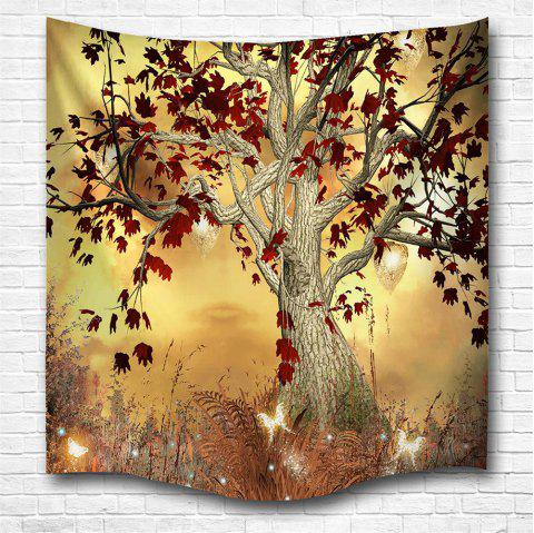 Elf Tree 3D Digital Printing Home Wall Hanging Nature Art Fabric Tapestry for Bedroom Living Room Decorations - COLORMIX W153CMXL102CM
