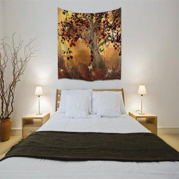 Elf Tree 3D Digital Printing Home Wall Hanging Nature Art Fabric Tapestry for Bedroom Living Room Decorations - COLORMIX W153CMXL130CM
