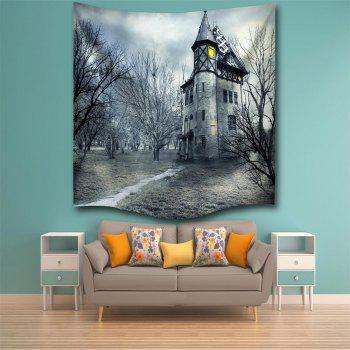 A Mysterious Castle 3D Digital Printing Home Wall Hanging Nature Art Fabric Tapestry for Bedroom Living Room Decorations - COLORMIX W229CMXL153CM