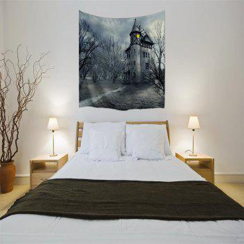 A Mysterious Castle 3D Digital Printing Home Wall Hanging Nature Art Fabric Tapestry for Bedroom Living Room Decorations - COLORMIX W153CMXL102CM