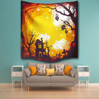 The Skeleton Ghost 3D Digital Printing Home Wall Hanging Nature Art Fabric Tapestry for Bedroom Living Room Decorations - COLORMIX W153CMXL130CM