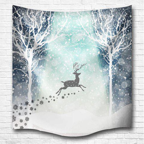 Hakodate Reindeer 3D Digital Printing Home Wall Hanging Nature Art Fabric Tapestry for Bedroom Living Room Decorations - COLORMIX W153CMXL130CM
