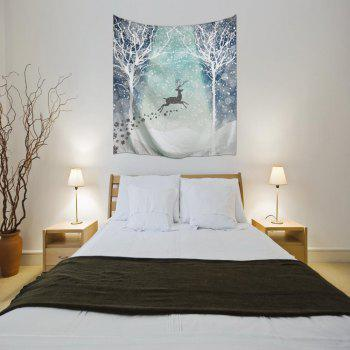 Hakodate Reindeer 3D Digital Printing Home Wall Hanging Nature Art Fabric Tapestry for Bedroom Living Room Decorations - COLORMIX W203CMXL153CM