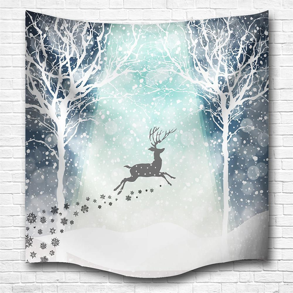 Hakodate Reindeer 3D Digital Printing Home Wall Hanging Nature Art Fabric Tapestry for Bedroom Living Room Decorations - COLORMIX W230CMXL180CM