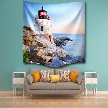 Sunset Tower 3D Digital Printing Home Wall Hanging Nature Art Fabric Tapestry for Bedroom Living Room Decorations - COLORMIX W153CMXL102CM