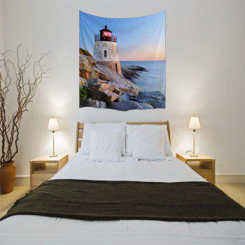 Sunset Tower 3D Digital Printing Home Wall Hanging Nature Art Fabric Tapestry for Bedroom Living Room Decorations - COLORMIX W203CMXL153CM