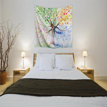 Multicolor Tree 3D Digital Printing Home Wall Hanging Nature Art Fabric Tapestry for Bedroom Living Room Decorations - COLORMIX W153CMXL102CM