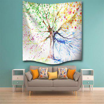 Multicolor Tree 3D Digital Printing Home Wall Hanging Nature Art Fabric Tapestry for Bedroom Living Room Decorations - COLORMIX W153CMXL130CM