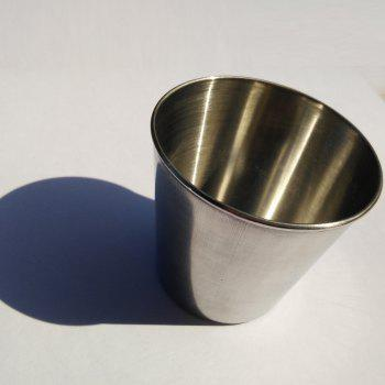 Stainless Steel Spirits Portable Metal Wine Butter Cup - SILVER