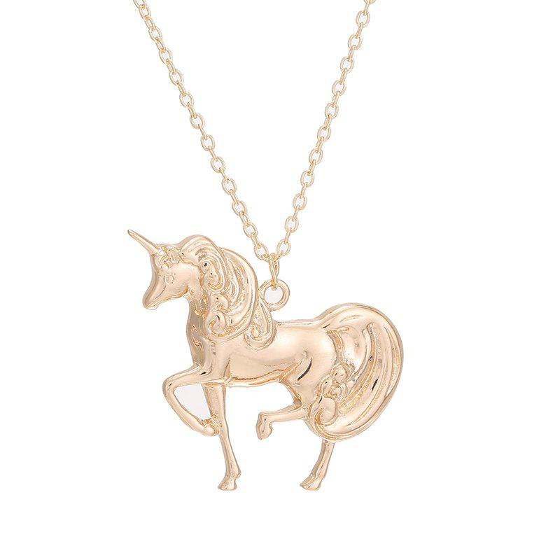 Fashion Unicorn Pendant Necklace Simple Charm Birthday Gift for Woman new fashion design reborn toddler doll rooted hair soft silicone vinyl real gentle touch 28inches fashion gift for birthday
