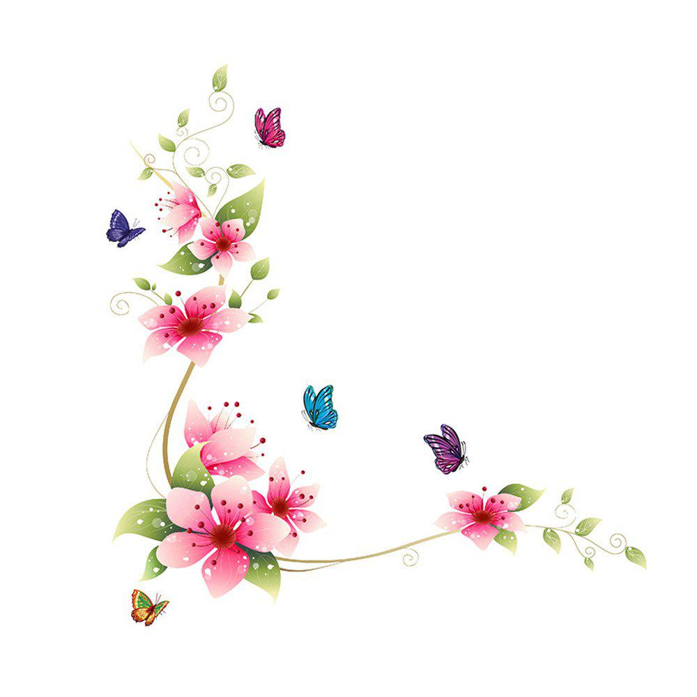 Фото Butterfly Flower Vine Wall Art Sticker for Home Decoration Removable Decals home decoration removable quote wall art sticker