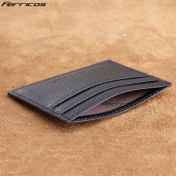 Thin Card Bag Men 's Leather Mini Small Purse Male Driver' S License ID Package - BLACK