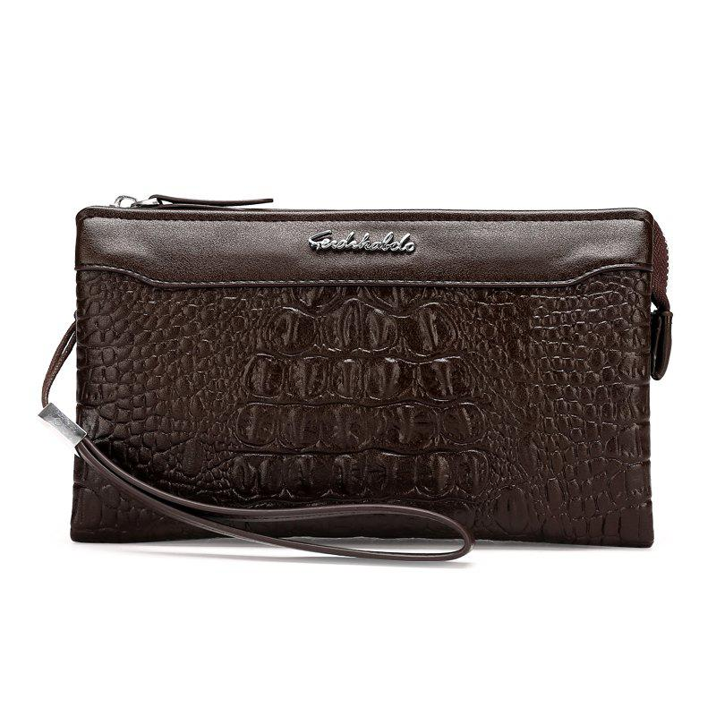 Business Casual Wallet Fashion Long Section of Multi-card Men's Clutch - BROWN