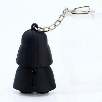 Star Wars Keyring Light Black Darth Vader Pendant LED KeyChain For Man Gift - BLACK