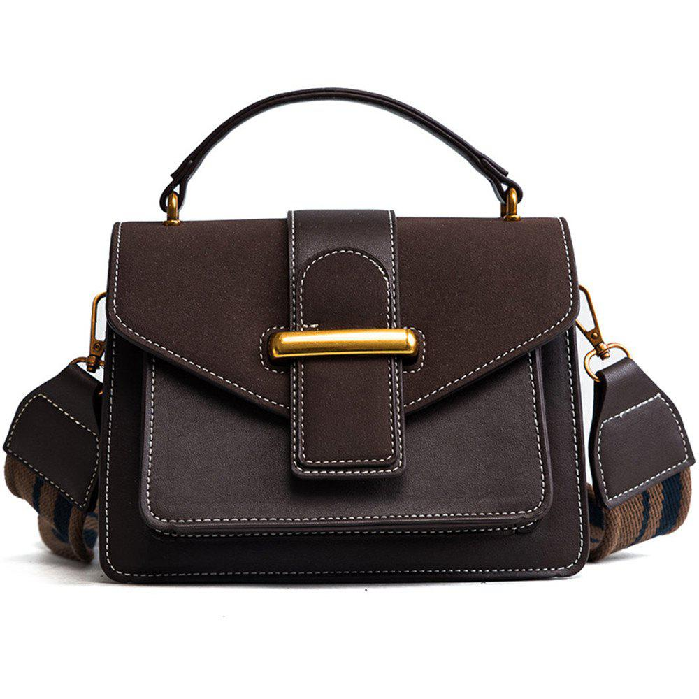 Small Package  Wide Straps Frosted Crossbody Korean All-match Portable Wind Port - MOCHA