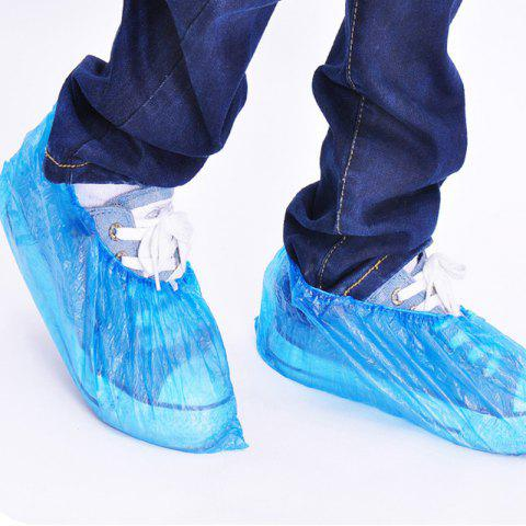 Disposable Shoe Covers Against Rain 100pcs - BLUE 35 X 13CM