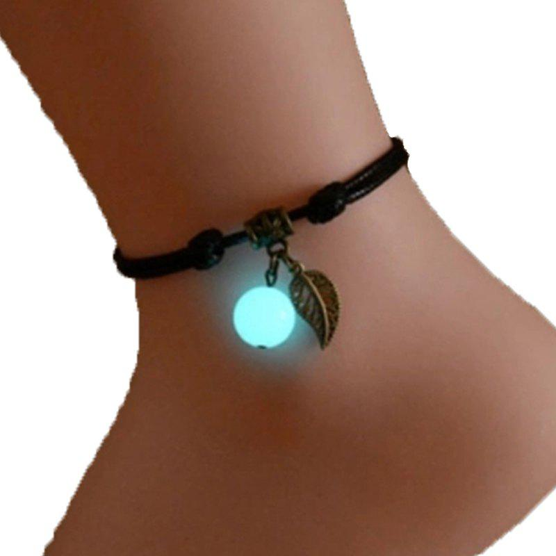 1PC Fashion Glowing in Dark Anklets for Women Foot Jewelry - BEIGE