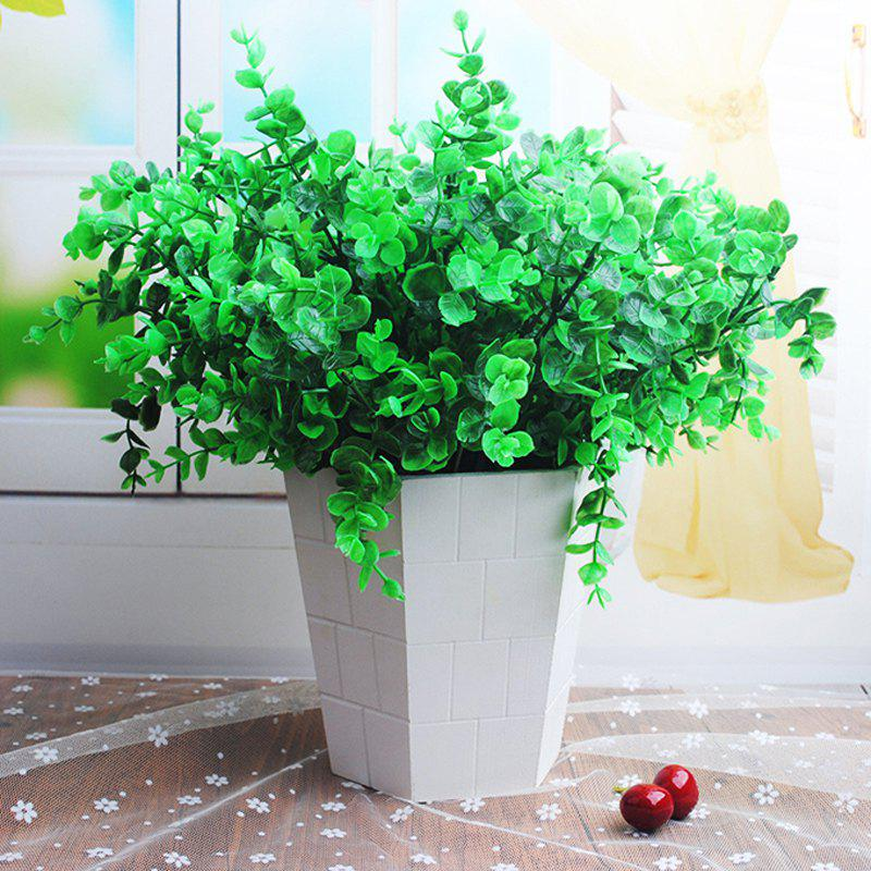 5 Bouquets of Artificial Plants Set Lifesome Fresh Green Plants Home Decoration - GREEN