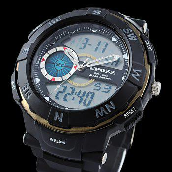 EPOZZ 2808 Men Digital Watch Waterproof Fashion Outdoor Sports - GOLDEN