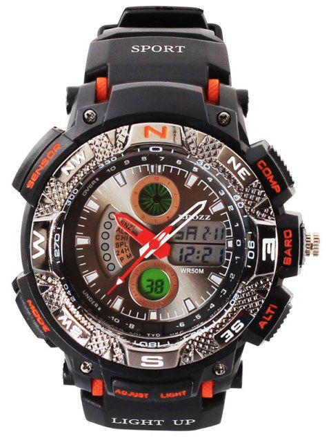 EPOZZ 1311 Men Digital Analog Waterproof Military Watch - ORANGE