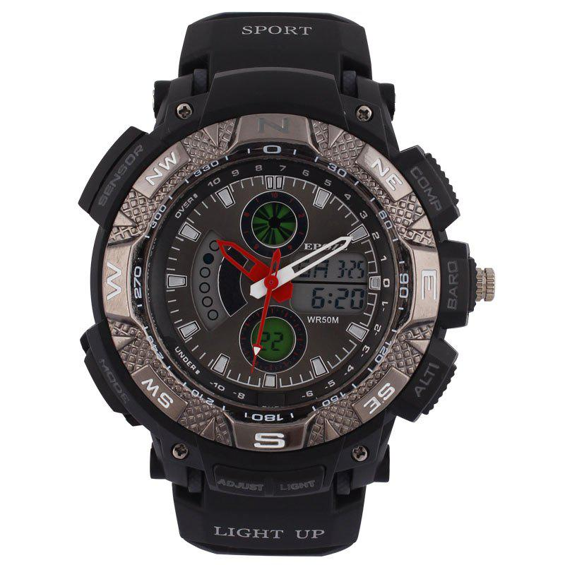 EPOZZ 1311 Men Digital Analog Waterproof Military Watch - BLACK