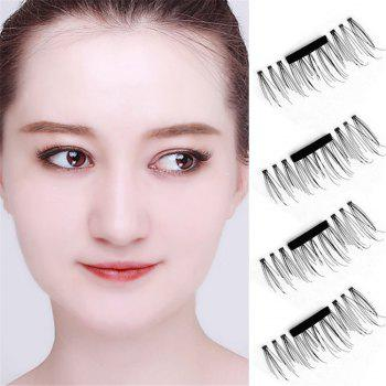 Magnetic Eyelashes Extension Eye Beauty Makeup Accessories Soft Hair - BLACK